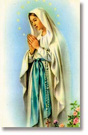 Our Lady/ Magnificat Wallet Size Holy Card